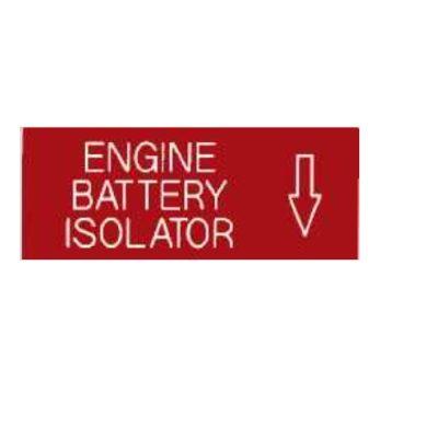 ENGINE BATTERY ISOLATION