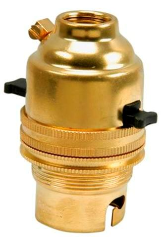 Brass Bulb Holder Switched B.C