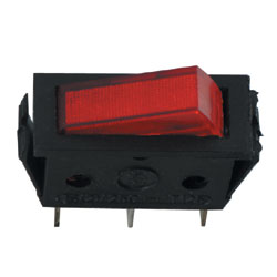 12v Illuminated R/Switch RED