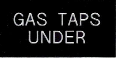 Label - GAS TAPS UNDER 50x25