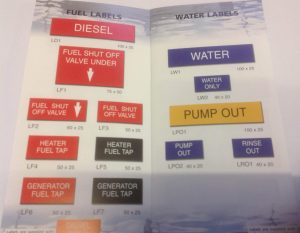Brian Ward Marine Equipment - Engraving and Labels